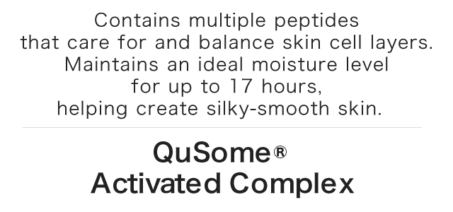Contains multiple peptides that care for and balance skin cell layers. Maintains an ideal moisture level for up to 17 hours, helping create silky-smooth skin.