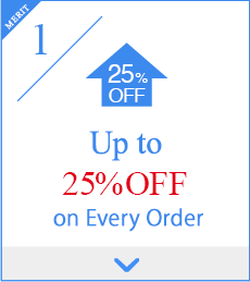 1,Up to 25% OFF on Every Order