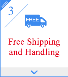 3,Free Shipping and Handling